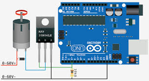 arduino driving dc motor using a single mosfet why does the enter image description here