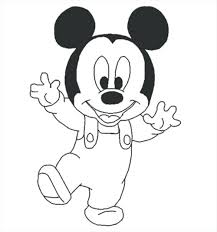 Mouse Coloring Pictures Smiling Mickey Mouse Coloring Page Free