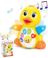 Joyin Lights Dancing Walking Yellow Duck Baby Toy With Music And Led