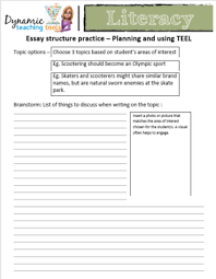 literacy dynamic teaching essay practice