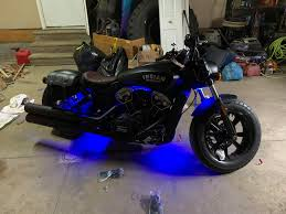 Are Underglow Lights Illegal In Pa Underglow On The Scout Bobber The Matte Black Just Eats All