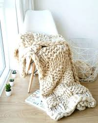 Arm Knit Blanket Pattern Impressive Huge Chunky Knit Blanket Wool Yarn Blanket Chunky Throw Pattern Arm