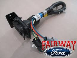 7 pin trailer harness 96 97 f 250 f 350 super duty oem ford trailer tow wire