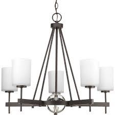 progress lighting p4706 20 5 light 1 tier chandelier 100 watt antique bronze