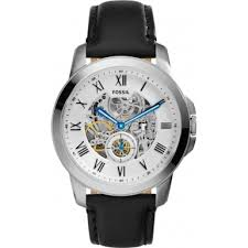 me3053 grant fossil mens watch watches2u fossil me3053 mens grant black leather strap watch