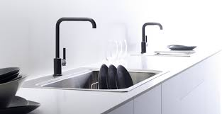 black kitchen sinks and faucets. 9. Matte Black Kitchen Sinks And Faucets