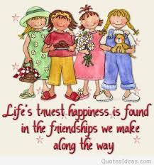 true happiness friends drawing quote