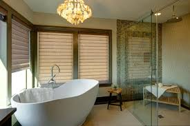 Bathroom:Relaxing Spa Bathroom Design With Wooden Bench Seating And Cream  Tile Wall Ideas Incredible