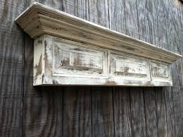 distressed wall shelf raised panel fireplace mantel shelf 269 99 via