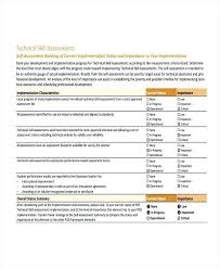 Examples Technical Skills Technical Skills Assessment Template Overall Of Performance