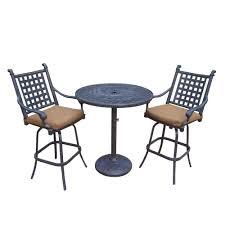 3 piece patio bar set.  Set 3Piece Patio Bar Set With Sunbrella Cushions On 3 Piece C