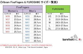 vibram size chart fitnessclub rakuten global market vibram fivefingers vibram