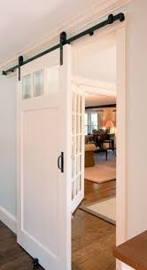 entryway office barn door. Beautiful White Rustic Sliding Barn Door Off The Foyer To Close  Dining Room, Entryway Office R