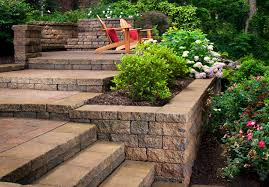 retaining walls and planters