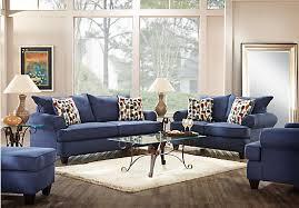 ansley park navy 5 pc living room living room sets blue