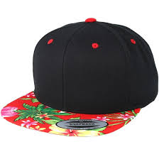 Hawaiian Black/Red <b>Snapback</b> - <b>Yupoong</b> - Start <b>бейсболку</b> - Hatstore