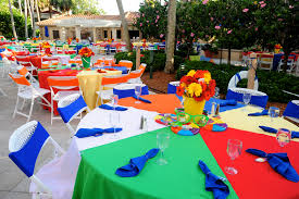 Beach Ball Decoration Ideas Love the beach ball tableclothes husband graduates and it's time 90