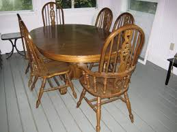 Dining Table Used Oak Chairs Oak Dining Room Table And 8 Chairs  Theramiro.com