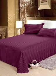 Bianca Hilton 210 TC Cotton Double Bedsheet with 2 Pillow Covers ...