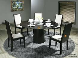 good looking round dining table with chairs 14 room sets for 6 glasid century modern leaves gl