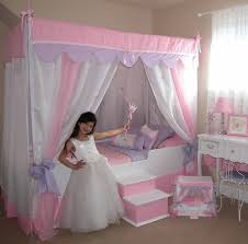Glitz & Glam Canopy Bed WITH Bedding
