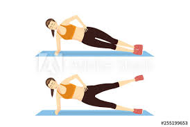 Plank Exercise Chart Woman Doing Side Plank Hip Abduction Exercise Guide In 2