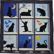 Best 25+ Quilting ideas ideas on Pinterest | Quilting, Baby quilt ... & Looking Out Kitty Quilt / WallHanging Adamdwight.com