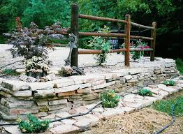 dry wall stacked stone edging mo