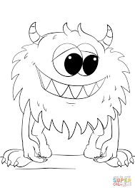 Small Picture Cute Cartoon Monster coloring page Free Printable Coloring Pages