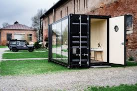 entire office decked. A Decked Out Shipping Container Makes For One Hell Of Tiny Office Entire