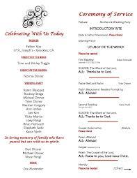 Catholic Wedding Ceremony Program Templates Catholic Wedding Ceremony Program Sample Page 2_inside Of Folded In