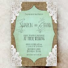 Burlap And Lace Wedding Invitations Best Burlap And Lace Wedding Invitations Products On Wanelo