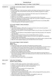Procurement Sample Resume Manager Indirect Procurement Resume Samples Velvet Jobs 11