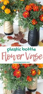 Make your own recycled vase using this super easy tutorial for making a  plastic bottle flower vase! If you … | Flower vase diy, Flower vases,  Plastic bottle flowers