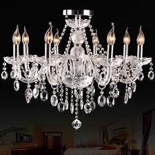 Gratis Verzending Fashion 8 Hoofden Luxe K9 Plafond Kristallen