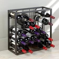 stack wine. Stack Wine Rack Black Steel Bottle Grid Stact Modular Wall Uk: Full Size