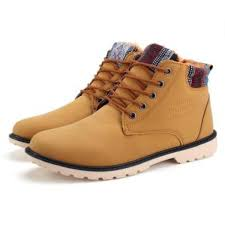 new mens winter warm casual leather high top shoes loafers ankle boots sneakers yellow malaysia