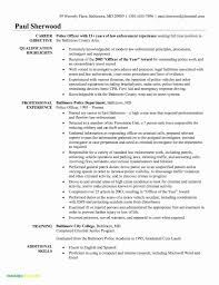 Police Officer Resume Example Template Military Law