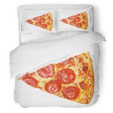 Italian Bed Size Chart Amazon Com Zomoy Duvet Cover Set Pizza Slice Of Fresh