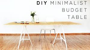 Minimalist Table Diy Minimalist Table Easiest Homemade Budget Desk Youtube