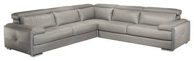 gary italian leather sectional sofa in