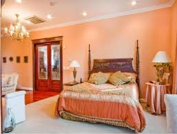 Peach Bedroom Bedrooms Colors Asian Home Interior Wall Decoration Part 103