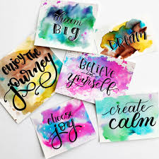 Calligraphy Backgrounds Easy Watercolour Background Techniques For Hand Lettering