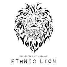 Nálepka Etnické černá Hlava Lva Totem Tetování Design Používá Se