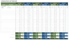 Vendor Comparison Chart Template Comparison Spreadsheet Template Excel