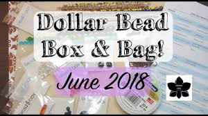 june 2018 dollar bead box jewelry making monthly subscription unboxing