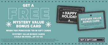 applebee s mystery values gift card promotion