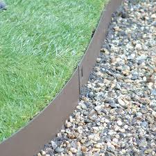 metal landscape edging brown design and ideas