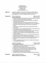 Payroll Resume Unique Payroll Accountant Resume Public Accounting