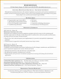 Electrical Maintenance Engineer Resume Samples Best Of Sample Resume